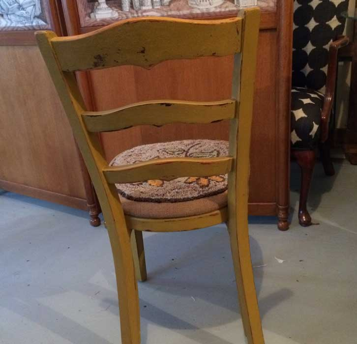 Yellow Side Desk Chair